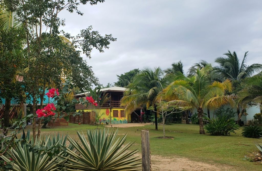 Colorfully painted houses in Hopkins Village, Belize