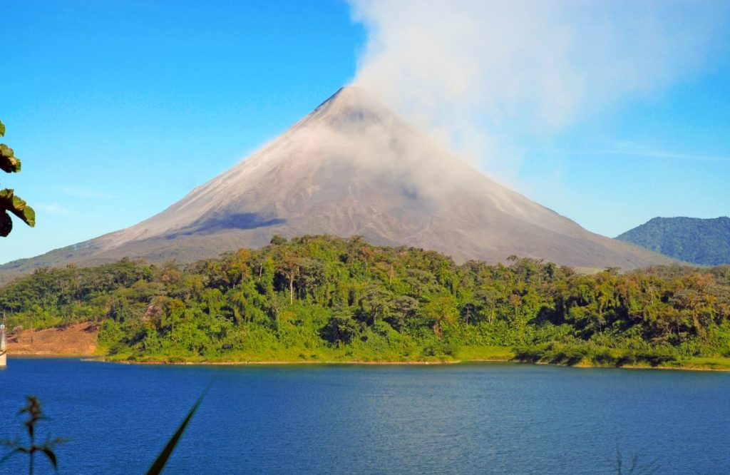 Arenal Volcano in Cost Rica on a sunny day