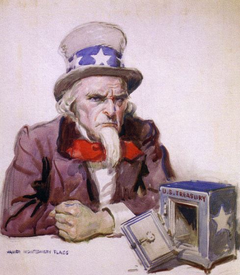 Uncle Sam with Empty Safe